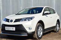 Защита переднего бампера d63 (секции) для Toyota RAV4 (2013 -) TR4Z-001282