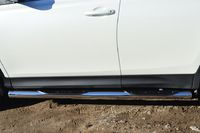 Пороги труба d76 с накладками (вариант 3) для  Toyota RAV4 Long (2009 -) TRLT-000151/3