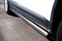 Пороги труба d63 (вариант 2) для Volkswagen Tiguan (Track&Field, Track&Style) (2011 -) VGT-0004932