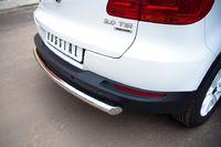 Защита заднего бампера d63 (дуга) для Volkswagen Tiguan (Track&Field, Track&Style) (2011 -) VGZ-000497