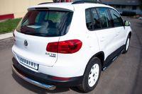 Защита заднего бампера d76 (дуга) для Volkswagen Tiguan (Track&Field, Track&Style) (2011 -) VGZ-000498