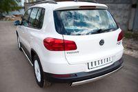 Защита заднего бампера d75х42 овал для Volkswagen Tiguan (Track&Field, Track&Style) (2011 -) VGZ-000499