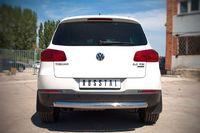 Защита заднего бампера d76 (дуга) для Volkswagen Tiguan (Sport&Style, Trend&Fun) (2011 -) VGZ-000986