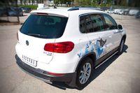 Защита заднего бампера 75х42 овал для Volkswagen Tiguan (Sport&Style, Trend&Fun) (2011 -) VGZ-000989
