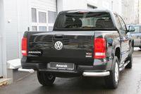 """Защита заднего бампера """"уголки"""" d76 для Volkswagen Amarok (2010 -) VWAM.76.1241"""