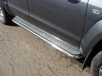 Пороги с площадкой 60,3 мм для Volkswagen Amarok (2010 -) VWAMAR10-02