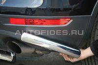 """Защита заднего бампера """"уголки"""" d60 для Volkswagen Touareg (2010 -) VWTG.76.1194"""