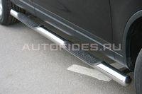 Пороги труба d76 с проступями для Volkswagen Touareg (2010 -) VWTG.81.1191