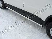 Пороги труба 60,3 мм для Volkswagen Tiguan (2011 -) VWTIG11-03