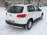Защита задняя (центральная) 60,3 мм для Volkswagen Tiguan (2011 -) VWTIG11-06