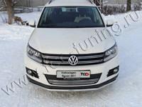 Решётка радиатора 12 мм для Volkswagen Tiguan (2011 -) VWTIG11-07