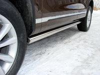 Пороги труба 76,1 мм для Volkswagen Touareg (2010 -) VWTOUAR10-03