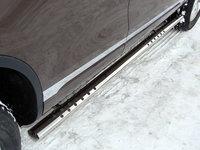 Пороги овальные с проступью 75х42 мм для Volkswagen Touareg (2010 -) VWTOUAR10-07